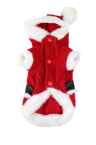 Picture of Midlee Small Dog Medium Santa Coat Costume by