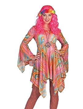 Generique - Disfraz Hippie veteado Multicolor Mujer S: Amazon.es ...