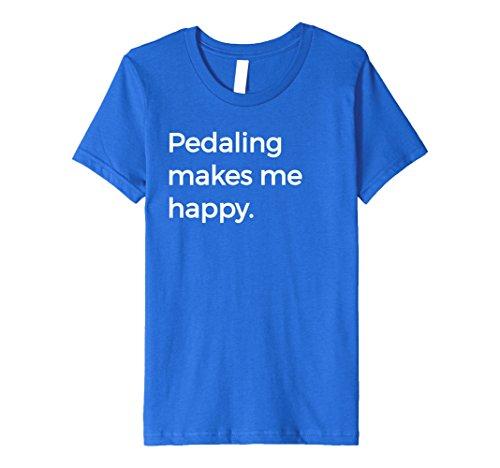 Pedaling Makes Me Happy T-Shirt Gift Bike Cyclist Lover Tee -  Peloton Bike Racing Tees