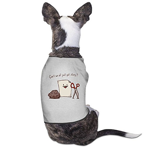 Skkoka Fashion Sleeveless Pet Supplies Dog Cat Clothes Cant We All Just Get Along Pet Apparel Clothing L Gray