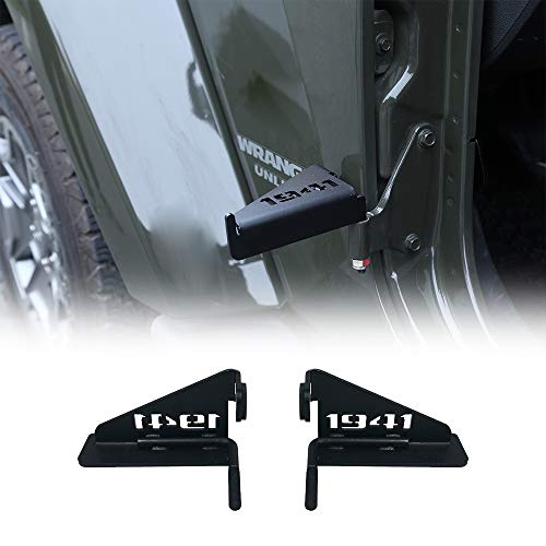 cartaoo Foot Pegs Solid Steel Black Foot Rest Kick Panel for 2007-2017 Jeep Wrangler JK & Unlimited (2pcs in 1pack) (Free Style)