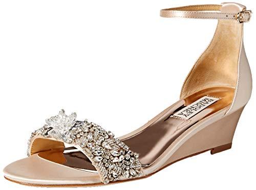 (Badgley Mischka Women's Fiery Wedge Sandal Soft Nude 11 M US)