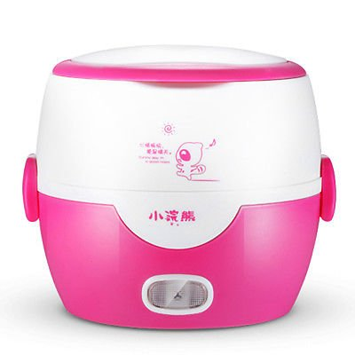 Small Raccoon 1.3L Electric Cooking Lunch Box Mini Rice Cooker Steam Cook Keep Warm Heating Input Voltage 220V