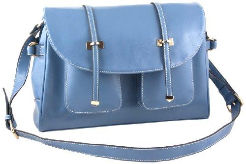 Yippydada Foxy - Bolso cambiador (piel auténtica), color azul