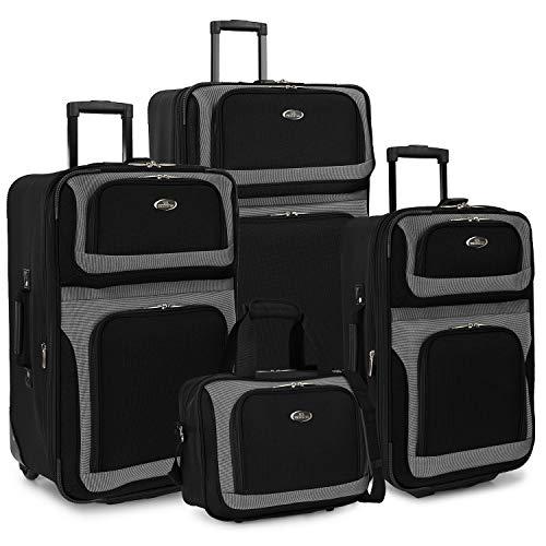 (U.S. Traveler New Yorker 4-Piece Luggage Set in)