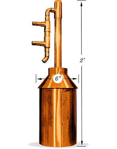 1 Gallon Copper Moonshine Still Kit. Made in the USA