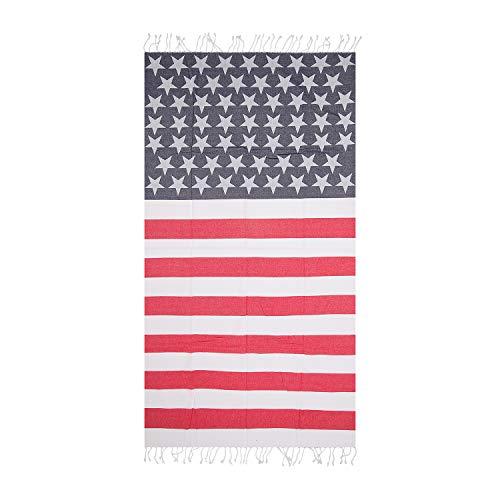 Hencely American Flag Beach Towel ()