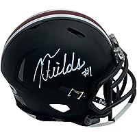 $179 » Justin Fields Autographed Ohio State Buckeyes Signed Football Mini Helmet PSA DNA COA