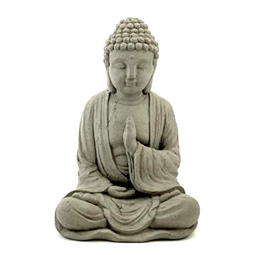 Blessing Buddha Statue: Solid Durable Stone. Perfect Home Garden Gift. Sealed for Outdoor Use. Handcrafted in USA