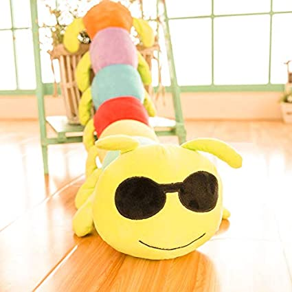 Triad basics Caterpillar Cool Dude Emoji |Smiley | Emoticon Cushion Pillow Soft Toy 55cm (Cool Dude)