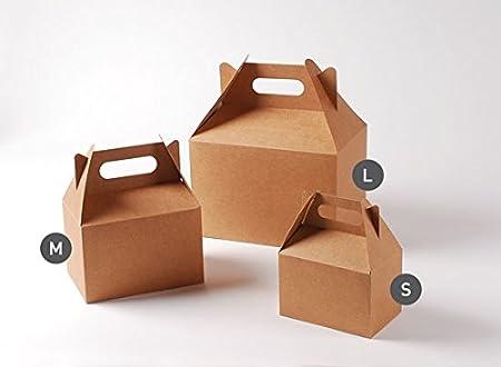Selfpackaging Caja de Picnic en Color Kraft para cumpleaños, Fiestas o Food Trucks - M
