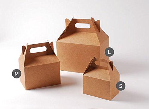Selfpackaging Caja de Picnic en Color Kraft para cumpleaños, Fiestas o Food Trucks - S
