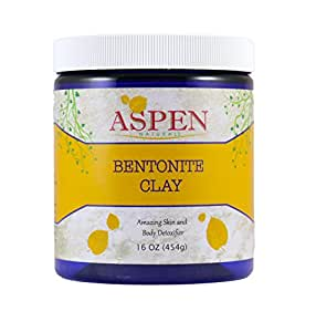 Cleansing Bentonite Clay Powder - 1 Lb - Deep Skin Pore and Body Cleanser, All Natural, Detoxifying, Use for DIY facial masks, shampoo, creams, lotions, deodorant etc. by Aspen Naturals