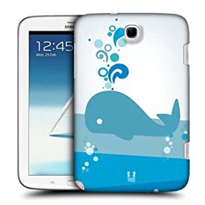 Cerhinu Head Case Abstract Kawaii Whales Back Case For Samsung Galaxy Note 8.0 N5100