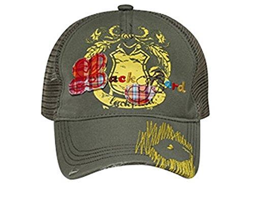 Hats & Caps Shop Youth Lackpard Plaid Patches Mesh Back Caps - Ol. Green - By (Plaid Pork Pie Hat)