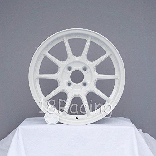 4 PCS ROTA WHEEL F500 WHEELS 16x7 PCD:4x100 OFFSET:40 HB:67.1 WHITE FIAT 500 ONLY 12.7 LBS - Rota Wheel