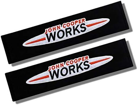 JOHN COOPER WORKS Cotton Seat Belt Shoulder Pads R51 R52 R53 R54 R55 R56