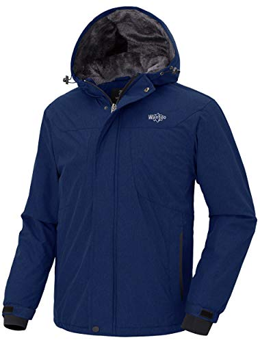 Wantdo Men's Snowboarding Jackets Warm Winter Jacket Waterproof Ski Coat Hooded Windproof Parka