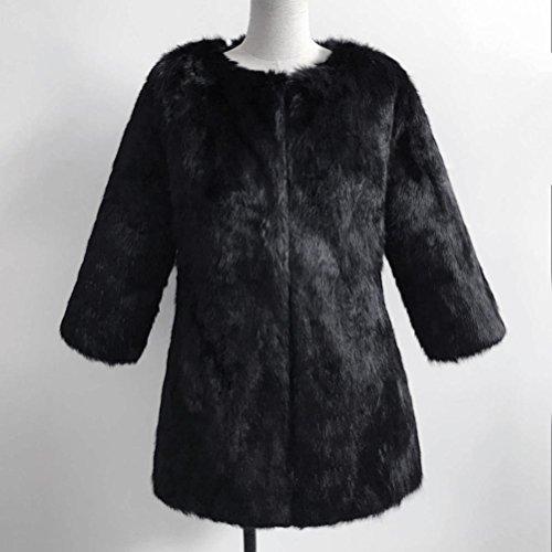 Ladies Black Various Faux Thicker C Styles Teen Girls Coat Fur Fashion Warm Keep Winter Women Jacket Cardigan Momola For Outwear qBtFg