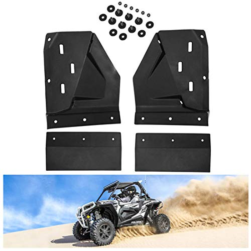 KIWI MASTER Front Mud Flaps Compatible for Polaris RZR XP/4 1000 S 900 Turbo 2014-2019 Extended Mud Flap Guards Fenders Flares