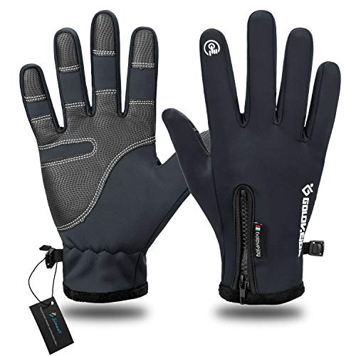 Simwell Winter Warm Gloves, Touch Screen Gloves Lightweight Outdoor Cycling Driving Running Gloves Cold Weather Windproof Thermal Gloves for Women and Men