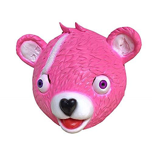 NECHARI Pink Bear Head Cosplay Mask Costume Toy Full Head Novelty Halloween Mask