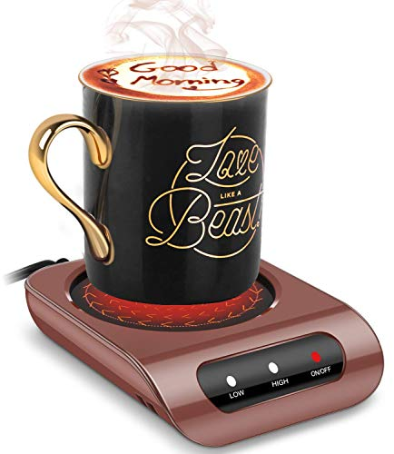 Bontime Mug Warmer - Coffee Mug Warmer for Desk with Auto Shut Off, Easy to Use and Clean, Enjoy Warm Coffee & Tea Anytime at Home and Office