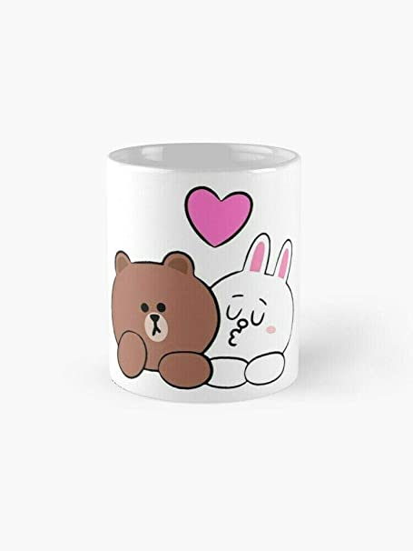 Cute Brown and Cony Bunny Rabbit Lovers 11 Oz /& 15 Oz Mugs Brown and Cony Mugs