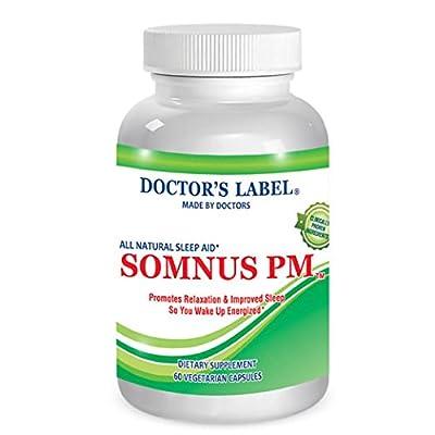 Somnus PM   Natural Sleep Supplement - Non-Habit Forming - Herbal - Natural Sleep Aid - OTC Insomnia Sleep Medication - Contains Melatonin, Valerian Root, Chamomile, GABA & More!