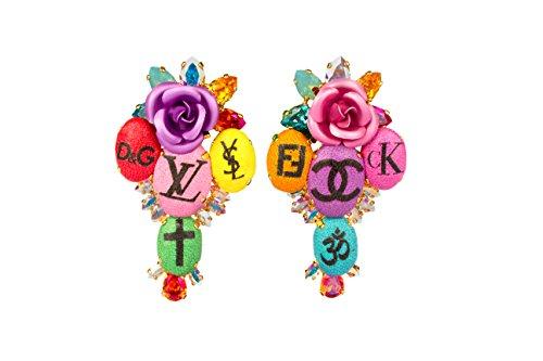 Bijoux De Famille femme    Laiton Poire   Multicolore Kristall FASHIONEARRING