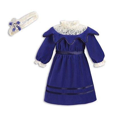 """""""Samantha's Velvet Dress"""" for 18"""" American Girl doll"""
