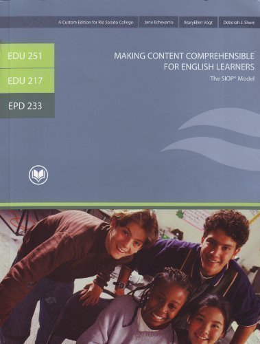 Making Content Comprehensible for English Learners The SIOP Model (CD Included)