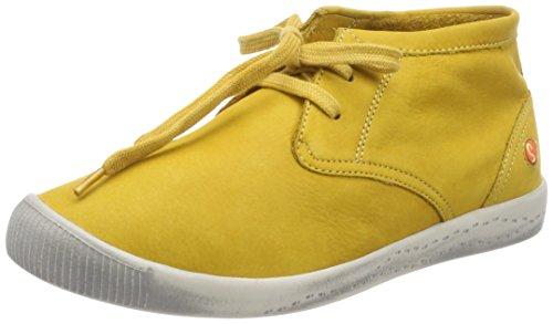Softinos Damen Indira Gewassen Hohe Sportschoen Gelb (geel)