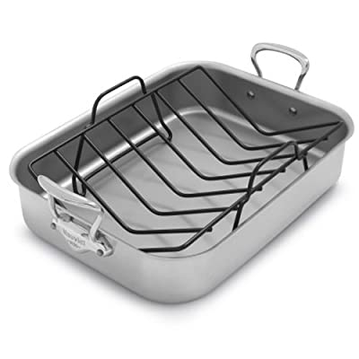 Mauviel M'collection de Cuisine Roasting Pan + Free Towel and Rack 3717.41