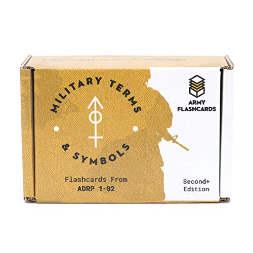 Army Flashcards - Pack of 100 Military Terms, Symbols, Operational Terms & Graphics | Concepts from ADRP 1-02 | Best for Army ROTC, Military Academy & Basic Officer Course Programs | Made in USA