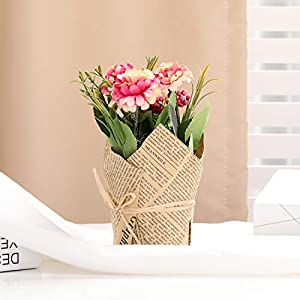 The Bloom Times 3 Packs Artificial Potted Hydrangea Flowers, Fake Small Silk Flowers Floral Arrangement Greenery Plants for Table Home Office Centerpieces Windowsill Wedding Party Decor 2