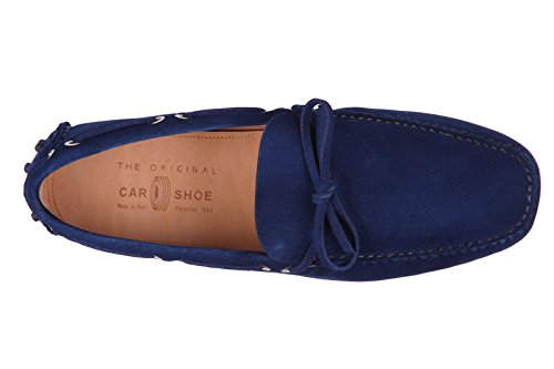 Car Shoe mocassins homme en daim blu