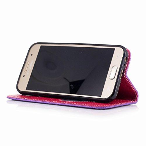 Yiizy Samsung Galaxy A3 (2017) / A320F/FL / A320Y Custodia Cover, Amare Design Sottile Flip Portafoglio PU Pelle Cuoio Copertura Shell Case Slot Schede Cavalletto Stile Libro Bumper Protettivo Borsa (
