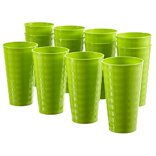 (Splash 20-ounce Unbreakable Plastic Tumblers | set of 12 Lime)