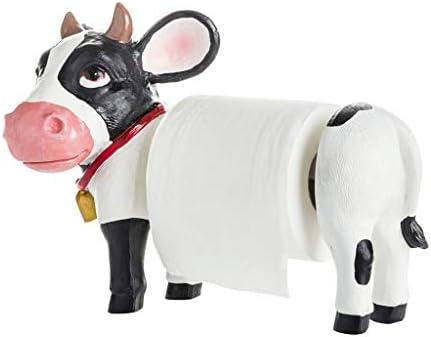 SDF25 キッチンロールホルダースタンド/ロール紙ディスペンサー、自立バストイレペパーホルダー、児童室インテリア、Creative COWのデザイン (Size : 39×19cm)
