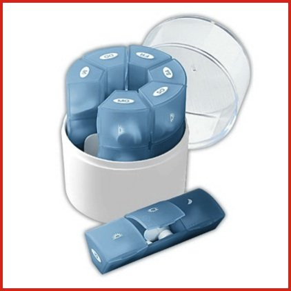 UPC 989898429158, 3 A DAY WEEKLY PILL REMINDER CASE - IDEAL FOR VITAMINS AND MEDICATIONS!