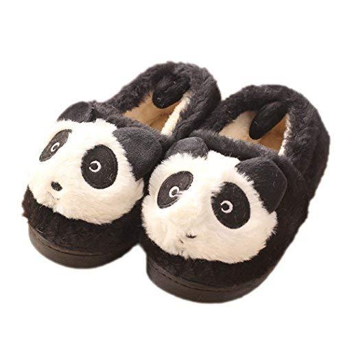Panda Bas Femme Noir Hiver Chaussons qzvXYOwn
