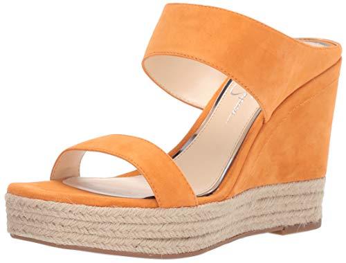 Jessica Simpson Women's Siera Sandal, Tangerine, 9 M US (Platforms Jessica Leather)