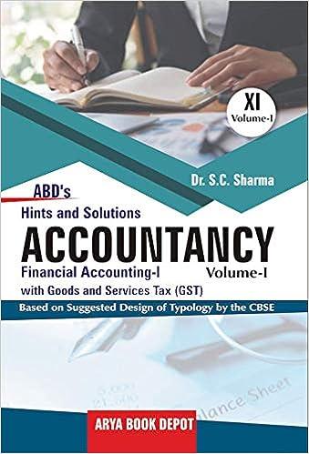 ABD's Accountancy Hint & Solution- Class 11 Vol  I 2019-2020