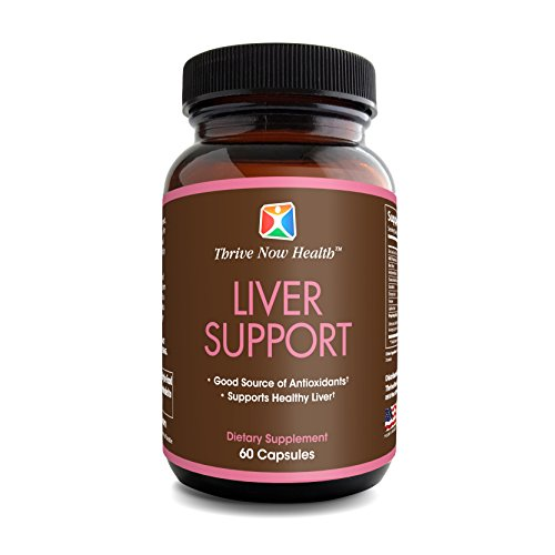 Cheap Thrive Now Health Liver Support Supplement w/Milk Thistle Extract (60 Capsules) Natural Antioxidants Boost Immune System |Repair, Cleanse & Detox | Made in USA