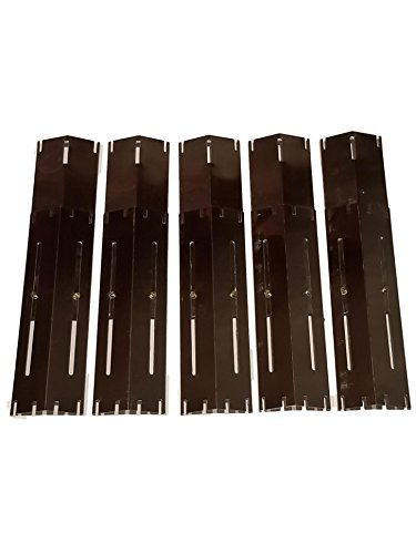 Set of 5 BBQ Gas Grill Pocelain Coated Steel Heat Plates for Brinkmann and Charmglow Grill models