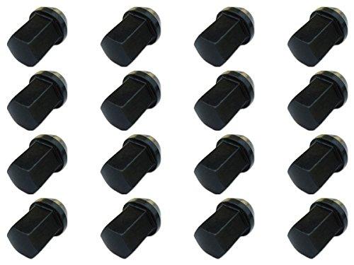 【16個入】【ホイールナット】17H31mm袋ナットM12×P1.25黒【クロモリスチール製】【レーシングナット】日産スバルスズキ適合 B00BT3KNWW