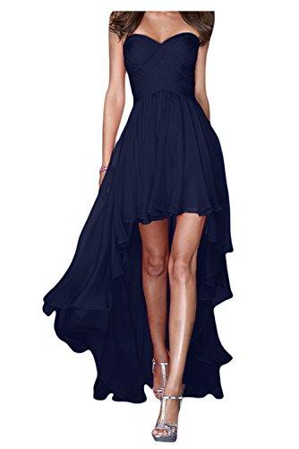 Abendkleider Chiffon Traegerlos Ballkleider Lo Bride Navy Festkleider Gorgeous Lang Fashion Hi X0qOxawH