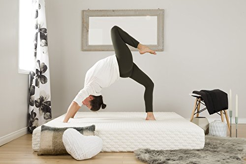 (South Shore Somea Basic 8'' Memory Foam Mattress - Full Size - White Jacquard Fabric)
