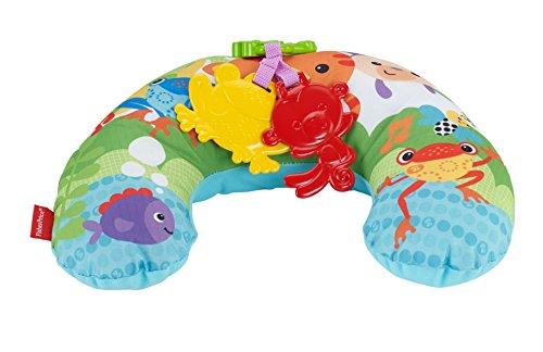Fisher-Price CDR52 - Rainforest Spielkissen, mit abnehmbaren Spielzeugen und Musik, Babyerstausstattung, ab 0 Monaten